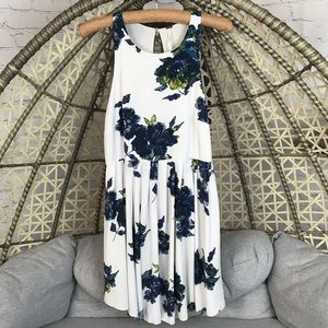 Free People Floral Dress - Blue/ White